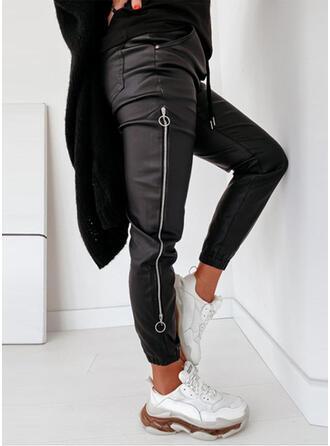 Pevný Nášivky Sportovní Kůže Vinobraní Kalhoty