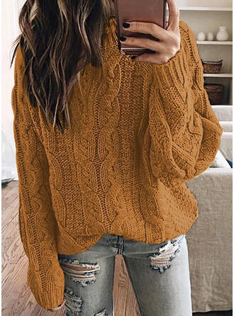 Solid Tricot Cablu Bucată tricotată Helancă Kazaklar