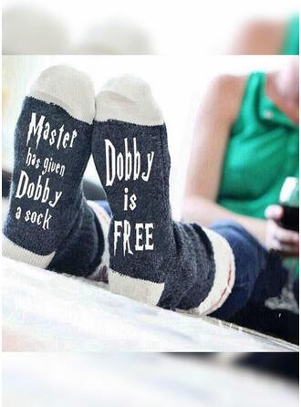 Tekst/Trykk pustende/Komfortabel/Crew sokker/Unisex Sokker