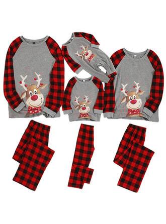 Hjort Plaid Familie matchende Jule Pyjamas