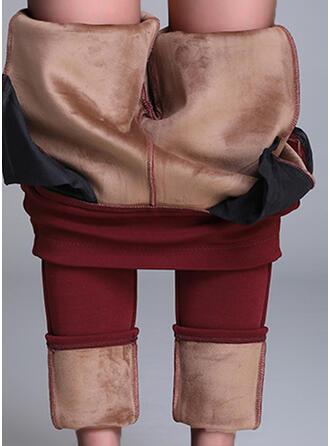 Sólido Tamanho grande Elegante Sexy Leggings