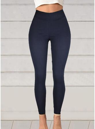 Solid Plus Size Long Elegant Sexy Pants Leggings