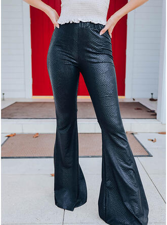 Solid Uzun gündelik Pantolonlar