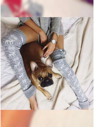 Trykk pustende/Komfortabel/kvinner/Jul/Knehøye sokker Sokker/Strømper
