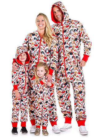 Dessin Animé Inmprimé Tenue Familiale Assortie Pyjama De Noël Pyjamas