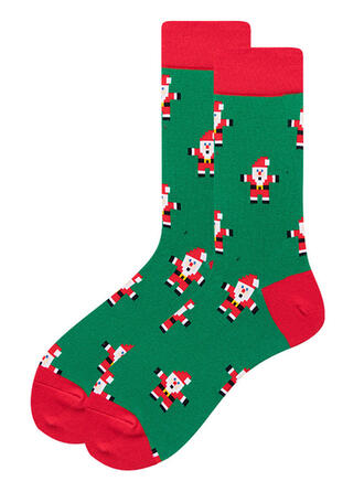 Trykk pustende/Jul/Crew sokker/Unisex Sokker