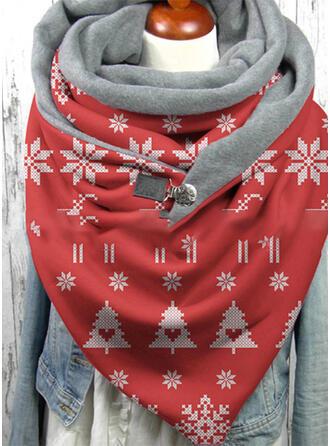 Geometric Print/Crăciun modă/Crăciun Eșarfă