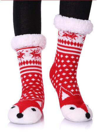 Impresión/Huella animal Cálido/Navidad/Calcetines de la tripulación/Antideslizante/Unisexo Calcetines
