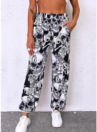 Cadılar Bayramı Imprimeu Uzun gündelik Pantolonlar