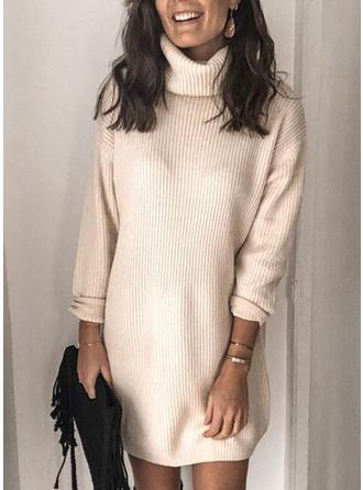 Solid Helancă Rochie pulover