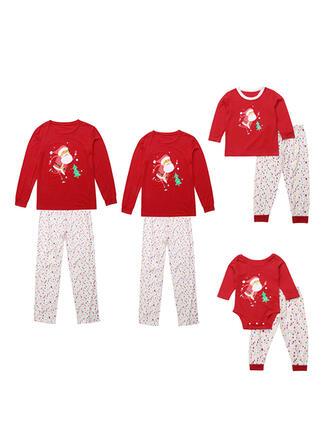 Père Noël Dessin Animé Tenue Familiale Assortie Pyjama De Noël
