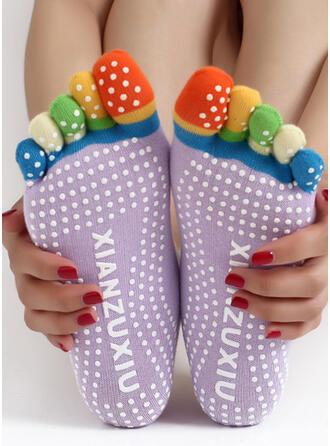Polka Dots Komfortabel/kvinner/Crew sokker/Antiskli/Tå Sokker