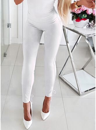 Jednolity Niejednolita całość Sznurek do ściągacza Długo Elegancki Seksowny Spodnie
