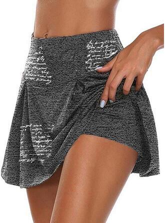 Tisk Dopis Bavlna Nad kolenem Neformální Plus velikost patch Kalhoty Šortky