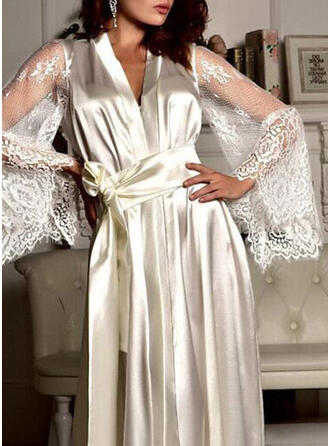 Polyester Blonder Solid color Robe