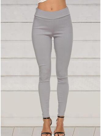 Solid Pluss størrelse Lang Elegant Sexy Bukser leggings