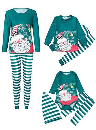 Père Noël Striped Tenue Familiale Assortie Pyjama De Noël