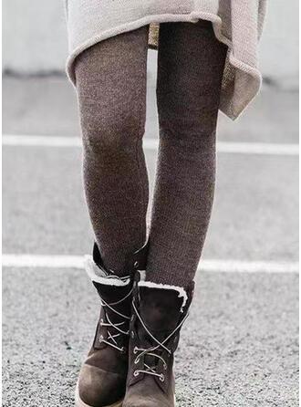 Solid rynkede Pluss størrelse Lang Elegant Sexy Bukser leggings