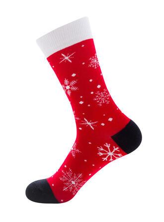 Tisk respirabile/Crăciun/Șosete echipaj/Unisex Şosete