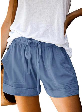 Pevný Casual Pevný Pantaloni scurti