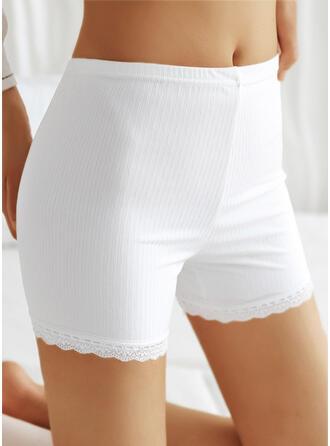 Pevný Krajka Neformální Kalhoty Šortky Legíny