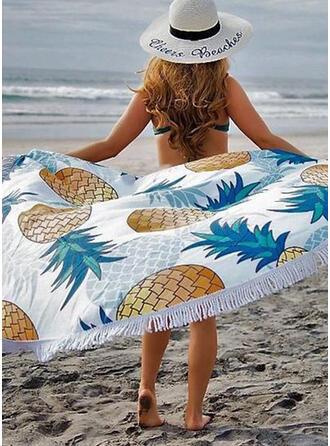 Tassel/Trykk rund/Støvtett/Hudvennlig Strand håndkle