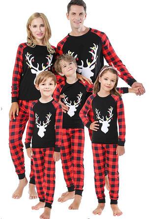 северный олень Плед Семейное соответствие Рождественская пижама