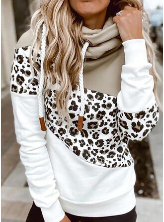 Színblokk leopárd Uzun kollu Kapucni