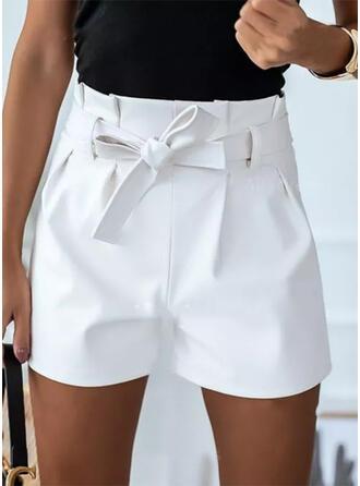Pevný Nad kolenem Neformální Plus velikost Buckle patch Kalhoty Šortky