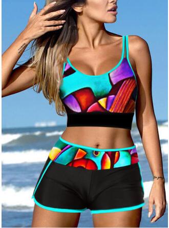 Ремень V шеи Большой размер Выделяющийся Повседневная Bikinis купальников