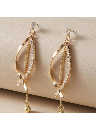 Pretty Alloy Rhinestones With Rhinestone Women's Earrings 2 PCS