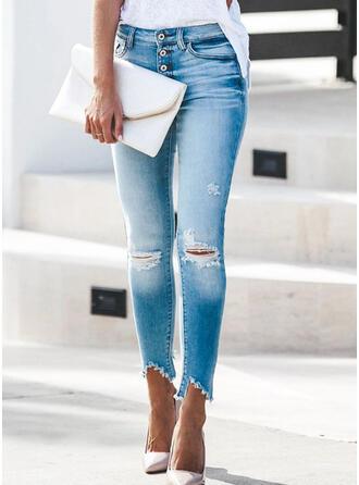Ripped Tassel Lang Elegant Sexet Denim & Jeans