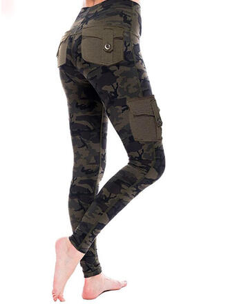 Pockets Plus Size Camouflage Casual Sexy Leggings