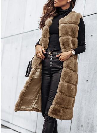 Ujjatlan Faux Fur kabát