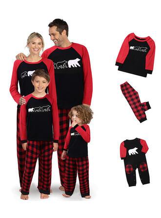 Ours Plaid Tenue Familiale Assortie Pyjama De Noël
