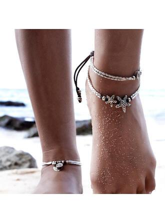 Layered Design de stele Aliaj Rope împletită Femei Plajă bijuterii sori