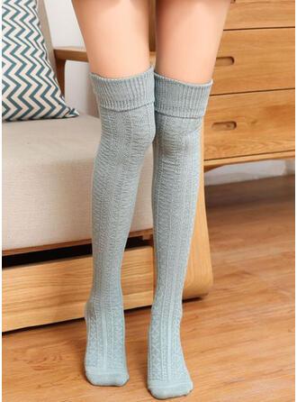 Culoare solida Cald/Confortabil/Femei/Șosete genunchi-înalte Şosete/Ştrampi