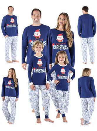 Nisse Letter Cartoon Familie matchende Jule Pyjamas