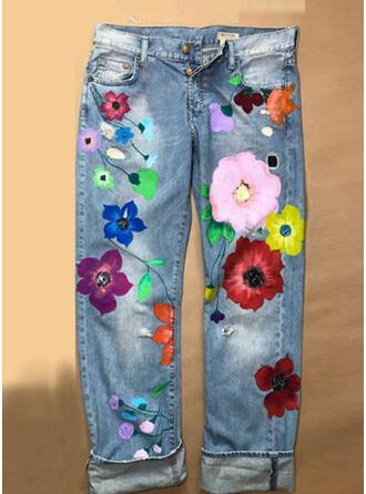 Floral Long Sexy Long Pants