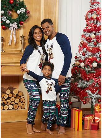 Олень Друк Для сім'ї Різдвяні піжами