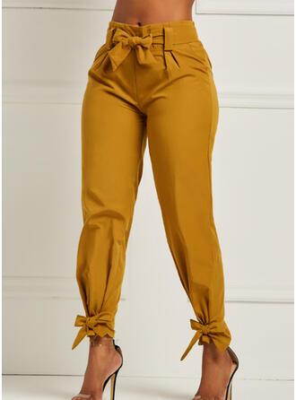 Solid Shirred Long Elegant Sexy Pants