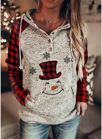 Print Grid Lange ærmer Jule sweatshirt
