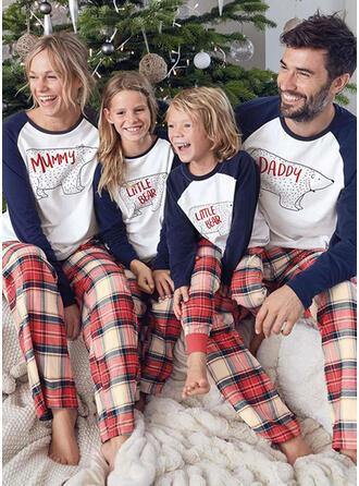 Bear Plaid Cartoon Family Matching Christmas Pajamas Pajamas