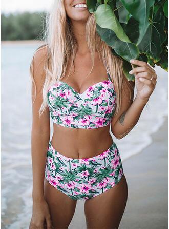 Strap V-Neck Bikinis Swimsuits