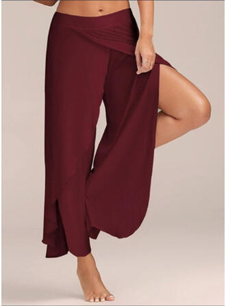 Shirred Plus Size Long Boho Casual Sexy Pants