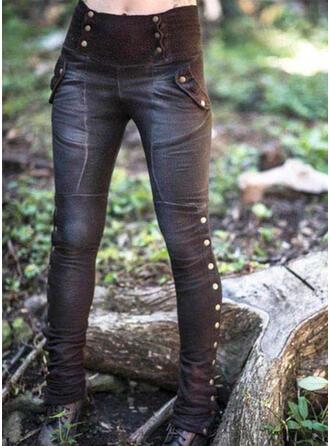 lommer rynkede Pluss størrelse Lang Sexy Mager Stamme leggings