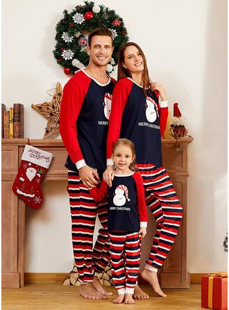 Plaid Mektup Aile Eşleşen Noel Pijamaları