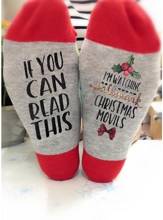 Písmena/Tisk respirabile/Confortabil/Crăciun/Unisex Şosete