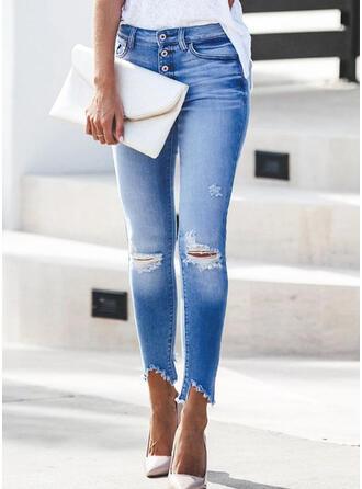 Ripped Tassel Long Elegant Sexy Denim & Jeans