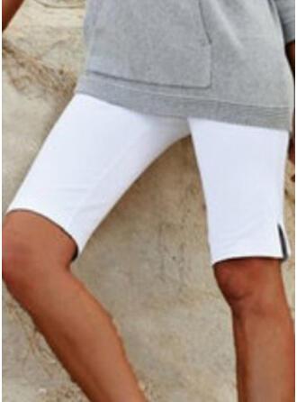 Pevný Plus Size Genunchi lungime Casual Pantaloni scurti
